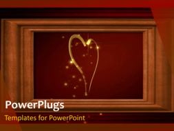 PowerPoint Template - Abstract heart Background